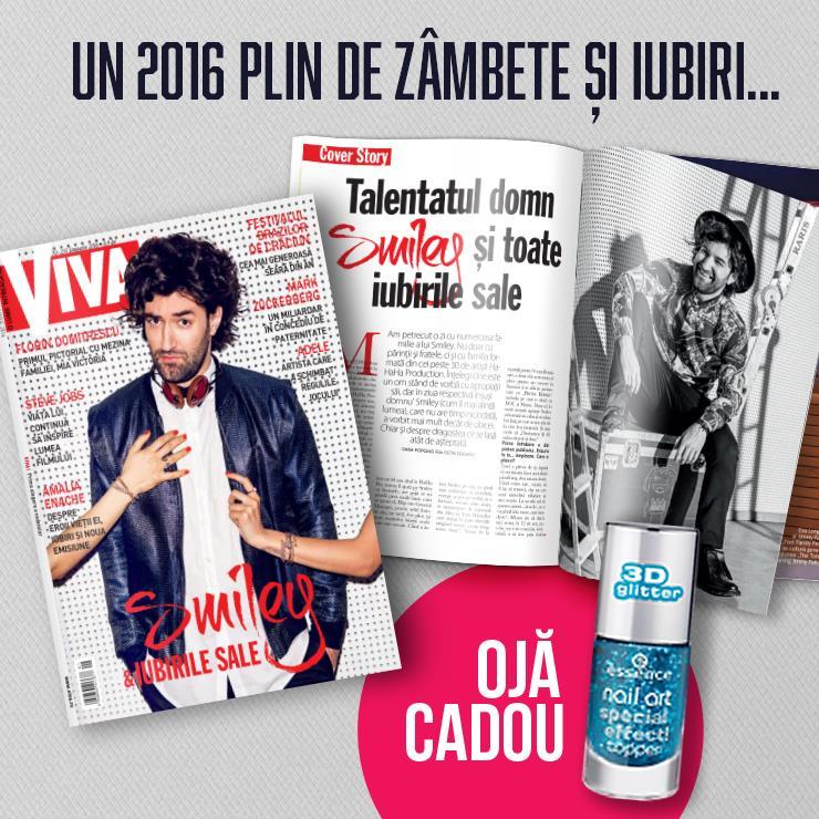Promo revista VIVA! si cadou oja Essence, editia de Ianuarie 2016  ~~ Pret pachet: 9 lei