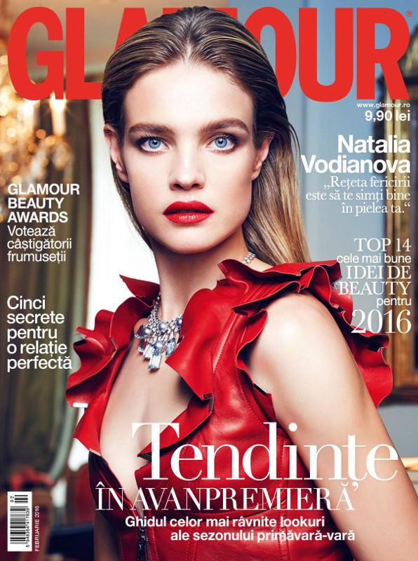 Glamour Romania ~~ Coperta: Nadia Vadianova ~~ Februarie 2016
