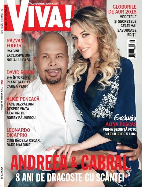 VIVA! Romania ~~ Coperta: Cabral si Andreea ~~ Februarie 2016