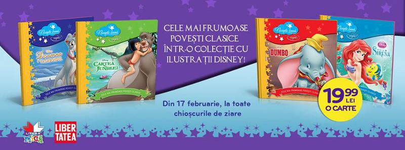 Colectia de 4 carti NOAPTE BUNA, COPII! cu povesti Disney ~~ 17 Februarie - 9 Martie 2016 ~~ Pret: 20 lei/carte