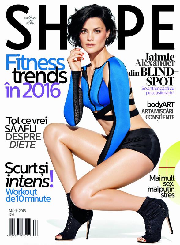 Shape Magazine Romania ~~ Coperta: Jaimie Alexander ~~ Martie 2016