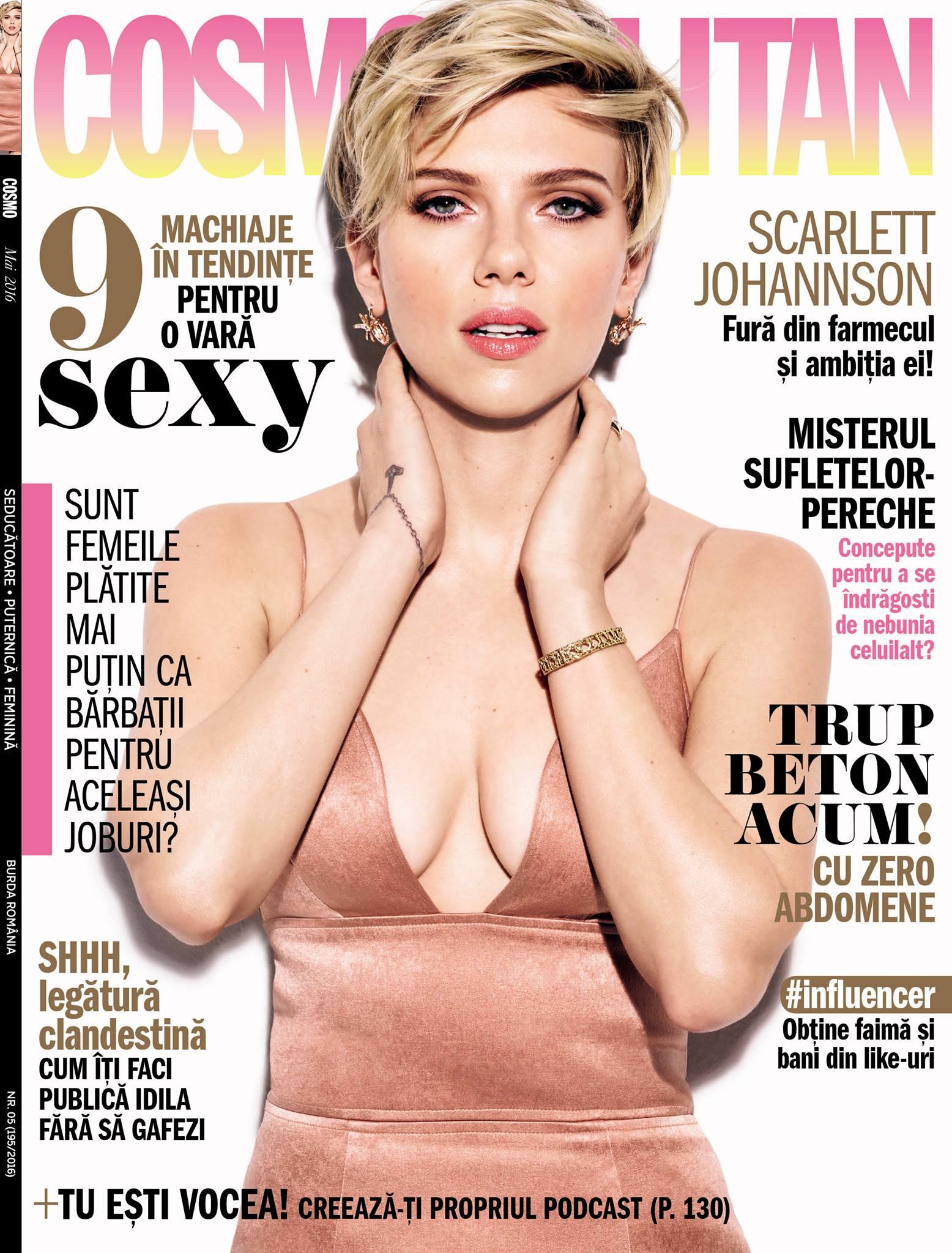 Cosmopolitan Romania ~~ Coperta: Scarlett Johannson ~~ Mai 2016