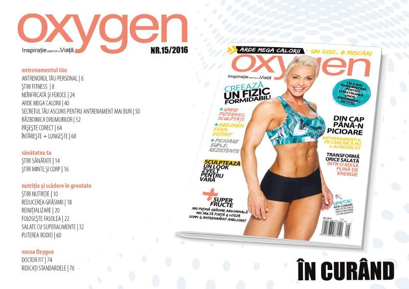 Oxygen Magazine Romania ~~ Coperta: Ava Cowan ~~ Nr. 15 Mai-Iunie 2016