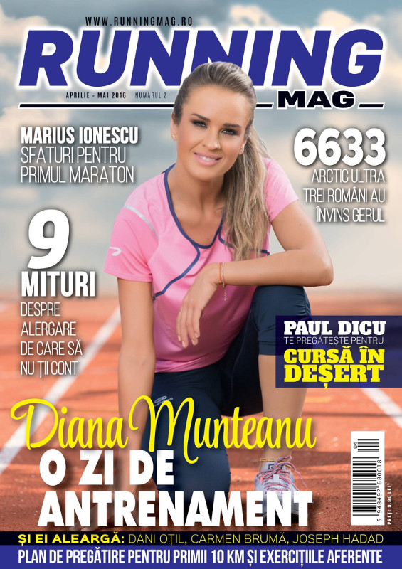 Running Mag ~~ Coperta: Diana Munteanu ~~ Aprilie-Mai 2016
