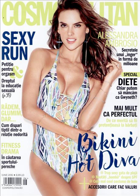 Cosmopolitan Romania ~~ Coperta: Alessandra Ambrosio ~~ Iunie 2016