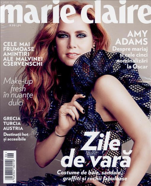 Marie Claire Romania ~~ Coperta: Amy Adams ~~ Iunie 2016