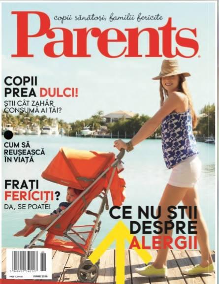 PARENTS ~~ Ce nu stii despre alergii ~~ Iunie 2016 ~~ Pret: 15 lei