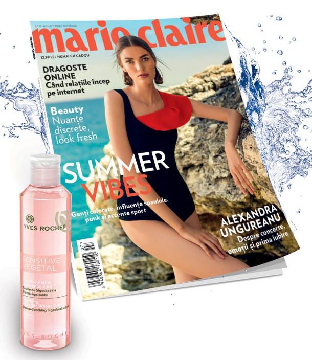 Promo pentru cadoul editiei de Iulie-August 2016 a revistei Marie Claire ~~ Pret pachet: 13 lei
