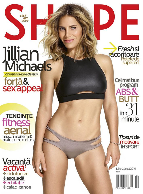 Shape Magazine Romania ~~ Coperta: Jillian Michaels ~~ Iulie - August 2016