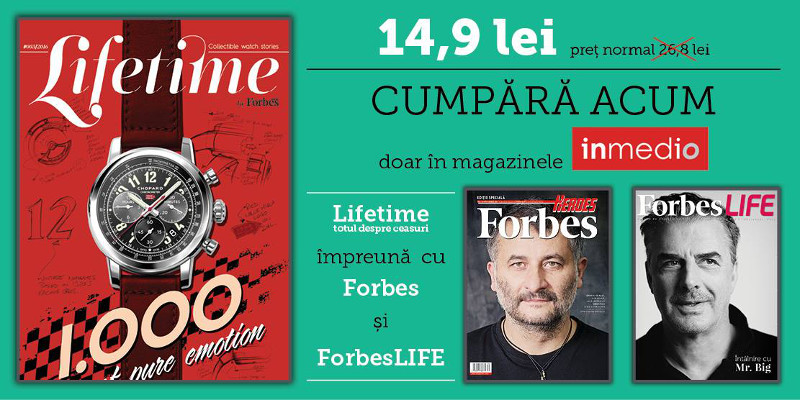 Pachet Forbes Romania, Forbes Life si Lifetime ~~ din 18 Iulie 2016 ~~ Pret: 15 lei