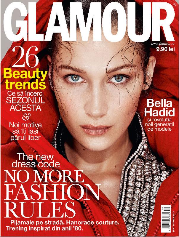 Glamour Magazine Romania ~~ Coperta: Bella Hadid ~~ Septembrie 2016