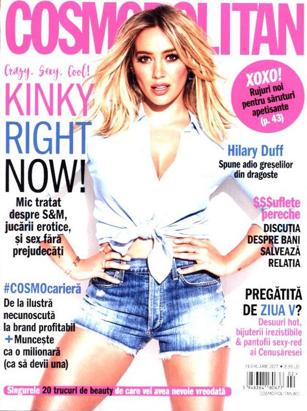 Cosmopolitan Romania ~~ Coperta: Hilary Duff ~~ Februarie 2017