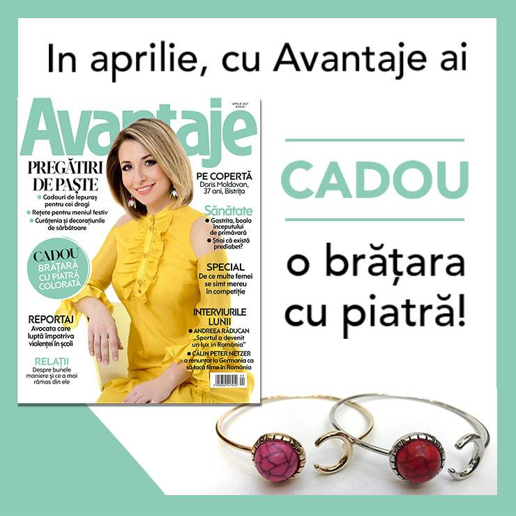 Promo pentru editia de Aprilie 2017 a revistei AVANTAJE ~~ Pret pachet: 9 lei