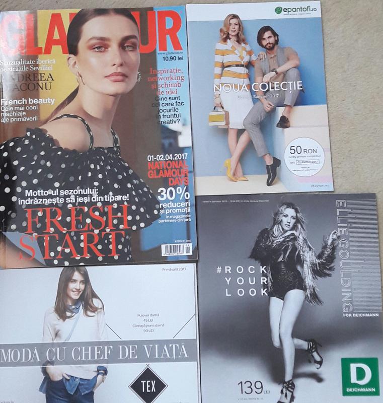 Inserturile revistei Glamour, editia de Aprilie 2017
