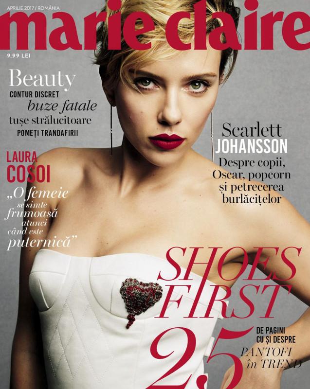 Marie Claire Romania ~~ Coperta: Scarlett Johansson ~~ Aprilie 2017
