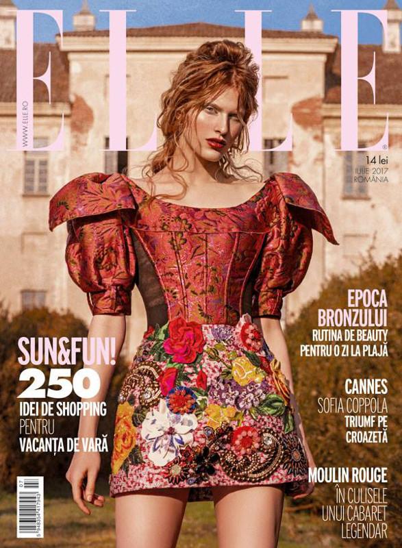 ELLE Magazine Romania ~~ Epoca Bronzului ~~ Iulie 2017