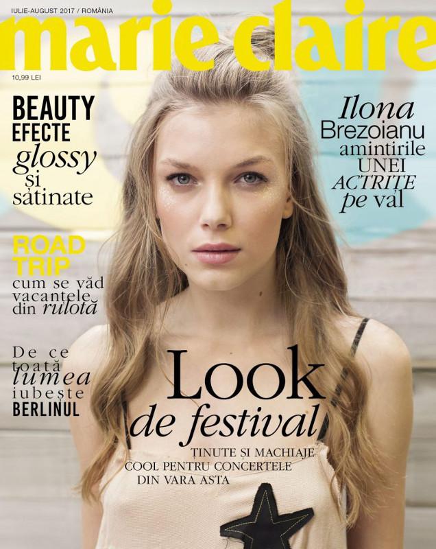 Marie Claire Romania ~~ Coperta: Ilona Brezoianu ~~ Iulie-August 2017