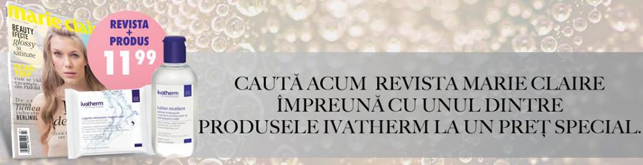 Promo pentru cadoul Ivatherm din editia dubla Iulie-August a revistei Marie Claire ~~ Pret pachet: 12 lei