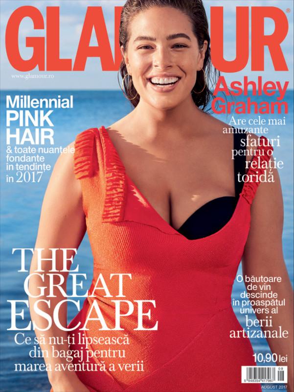 Glamour Magazine Romania ~~ Coperta: Ashley Graham ~~ August 2017