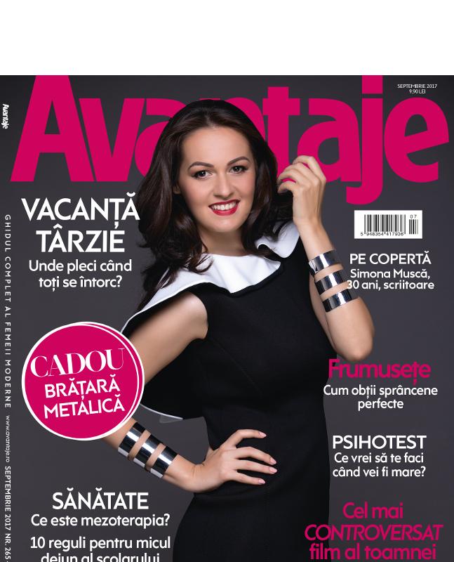 Revista AVANTAJE ~~ Coperta: Simona Musca ~~ Septembrie 2017
