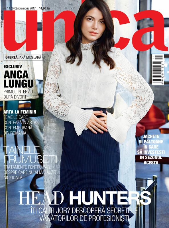 UNICA ~~ Coperta: Anca Lungu ~~ Noiembrie 2017