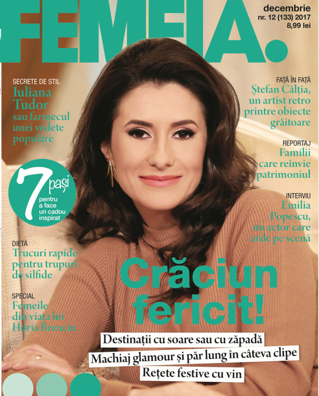 FEMEIA. ~~ Coperta: Iuliana Tudor ~~ Decembrie 2017
