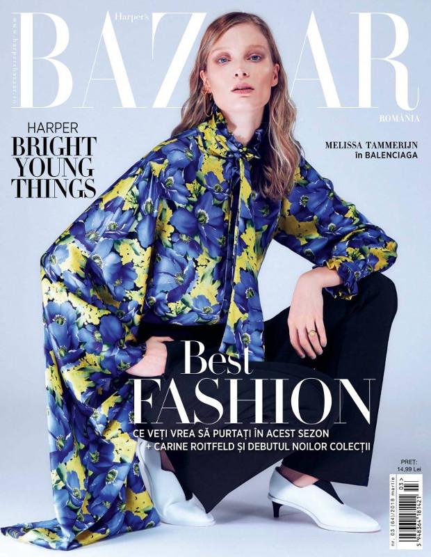 Harpers Bazaar Magazine Romania ~~ Coperta: Melissa Tammerijn ~~ Martie 2018