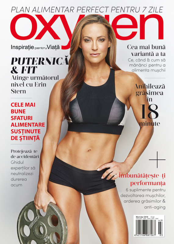 Oxygen Magazine Romania ~~  Coperta: Erin Stern ~~ Martie-Aprilie 2018