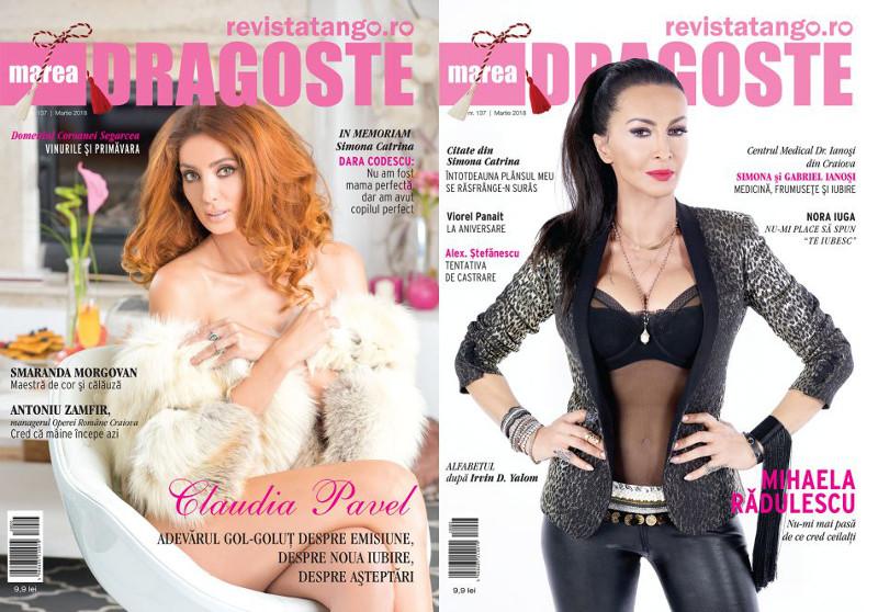 Revista Tango - Marea Dragoste ~~ Coperta dubla: Mihaela Radulescu si Claudia Pavel ~~ Martie 2018