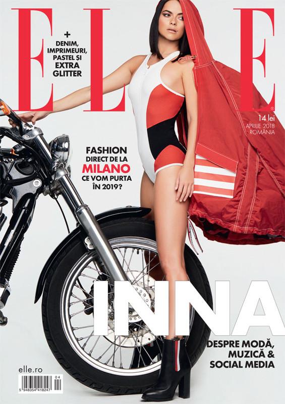 ELLE Magazine Romania ~~ Coperta: INNA ~~ Aprilie 2018