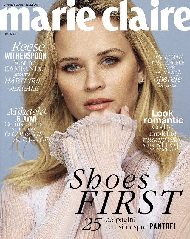 Marie Claire Magazine Romania ~~ Coperta Reese Whitherspoon ~~ Aprilie 2018