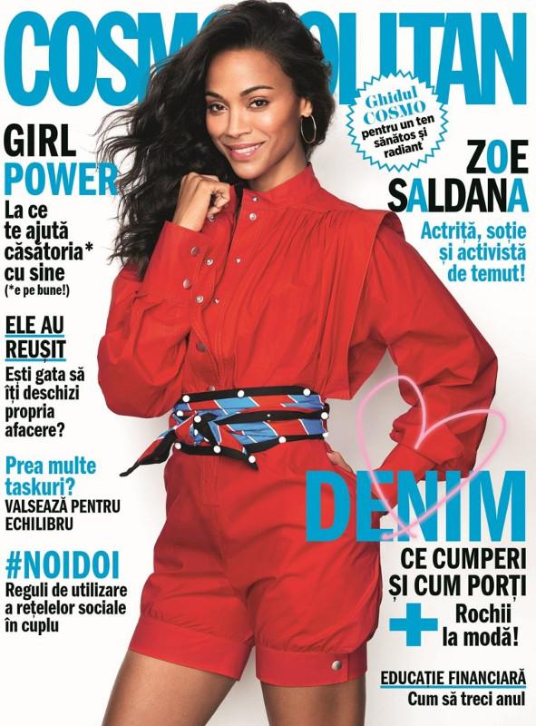 Cosmopolitan Magazine Romania ~~ Coperta: Zoe Saldana ~~ Mai 2018