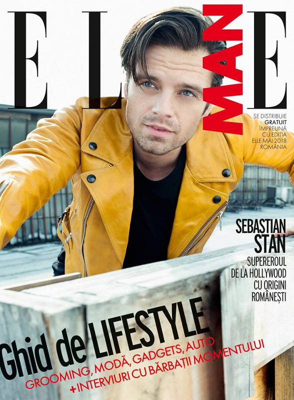 ELLE MAN Romania ~~ Coperta: Sebastian Stan ~~ Mai 2018