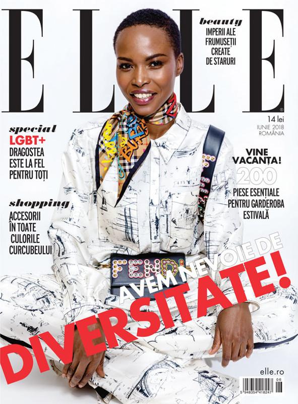 ELLE Magazine Romania ~~ Coperta: Aicha Med ~~ Iunie 2018