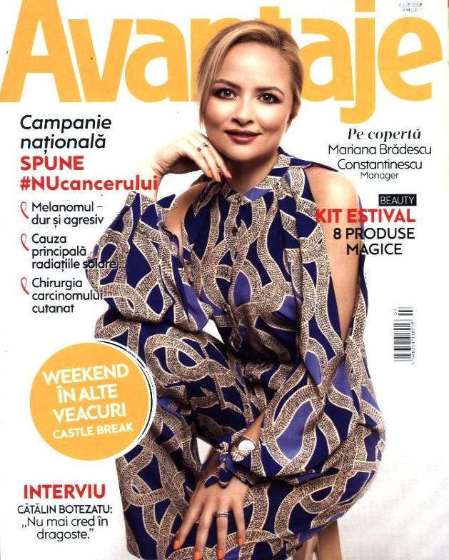 Revista Avantaje ~~ Campanie Nationala Spune #NuCancerului ~~ Iulie 2018