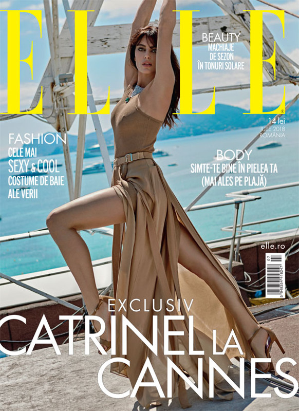ELLE Magazine Romania ~~ Coperta: Catrinel Menghia ~~ Iulie 2018