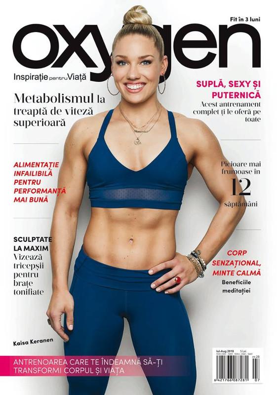 Oxygen Magazine Romania ~~ Coperta: Kaisa Keranen ~~ Iulie-August 2018