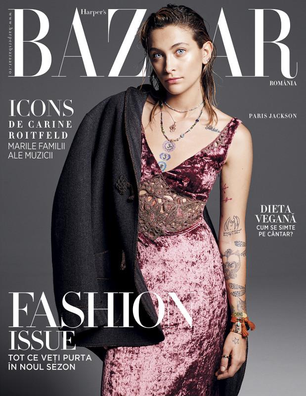 Harpers Bazaar Magazine Romania ~~ Coperta: Paris Jackson ~~ Septembrie 2018