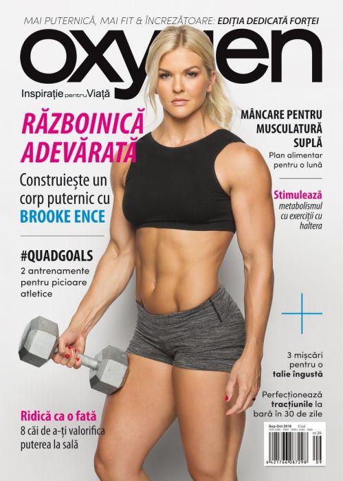 Oxygen Magazine Romania ~~ Coperta: Brooke Ence ~~ Septembrie - Octombrie 2018