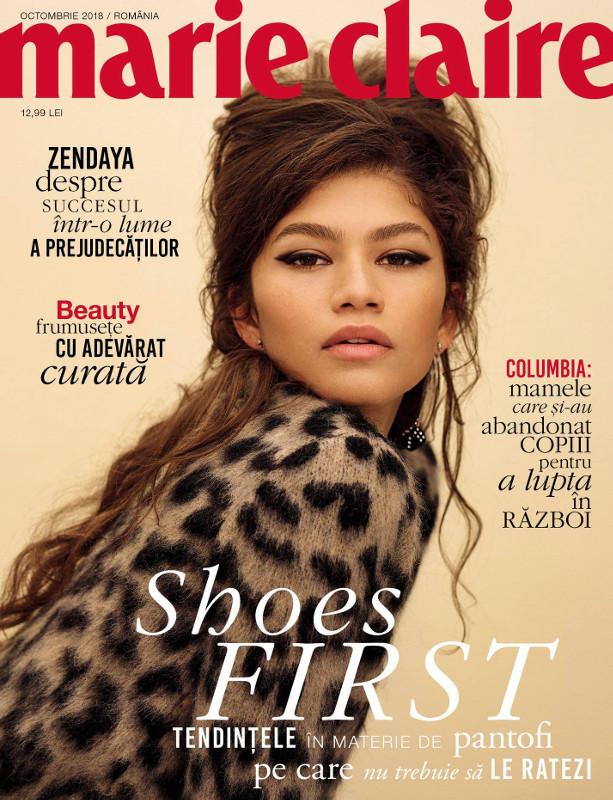 Marie Claire Magazine Romania ~~ Coperta: Zendaya ~~ Octombrie 2018