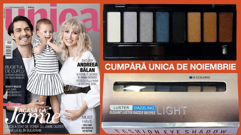Promo editia de Noiembrie 2018  a revistei UNICA ~~ Pret pachet: 15 lei