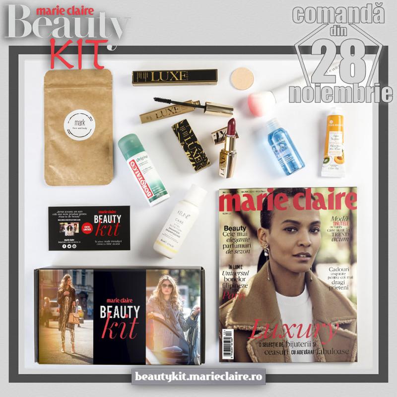 Beauty Kit Marie Claire ~~ din 28 Noiembrie 2018 ~~ Pret: 59 lei