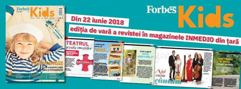 Forbes Kids Romania ~~ Nr. 2 din 22 Iunie 2018 ~~ Pret: 15 lei