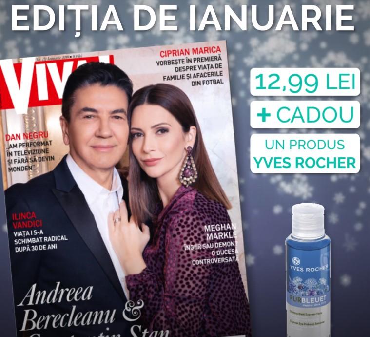 Promo pentru editia de Ianuarie 2019 a revistei VIVA! ~~ Pret pachet: 13 lei