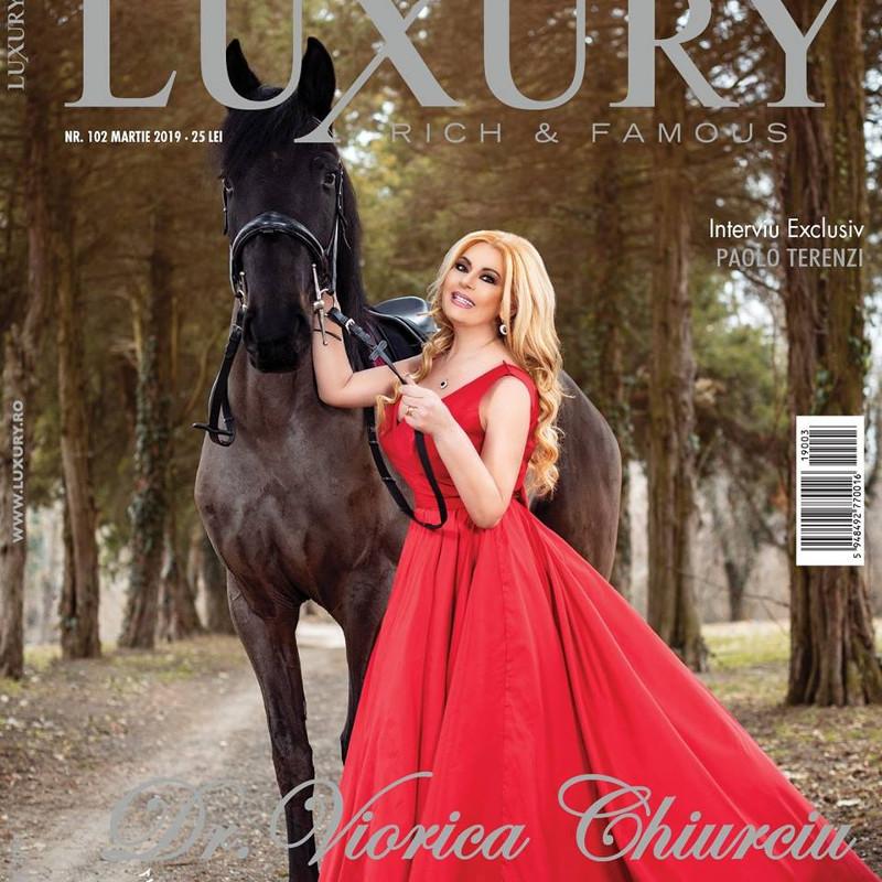 Luxury Magazine Romania ~~ Coperta: Viorica Chiurciu ~~ Martie 2019