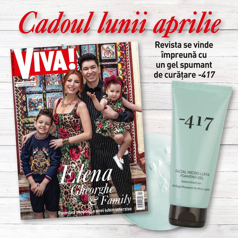 Promo editia de Aprilie 2019  a revistei VIVA! ~~ Cadou: Gel spumant de curatare Minus 417