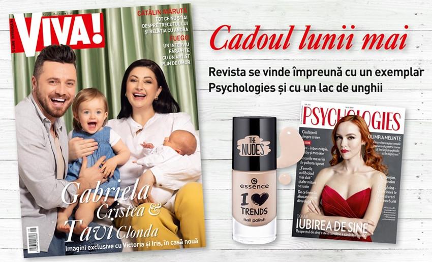 Promo editia de Mai 2019 a revistei VIVA! + oja Essence + Psychologies Romania ~~ Pret pachet: 11 lei
