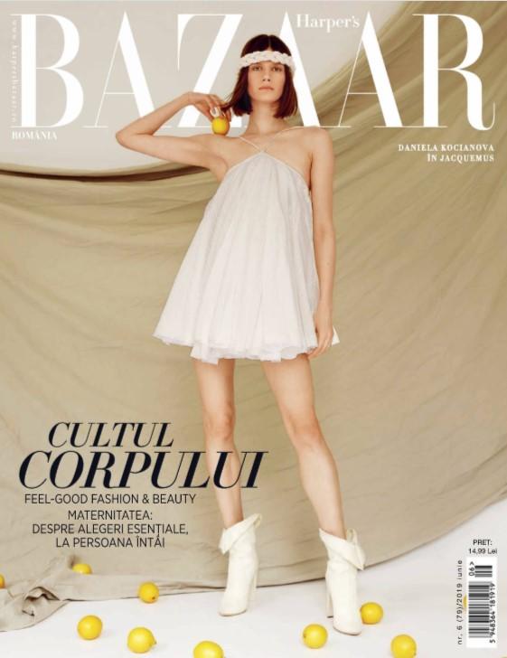 Harpers Bazaar Romania ~~ Coperta: Daniela Kocianova ~~ Iunie 2019