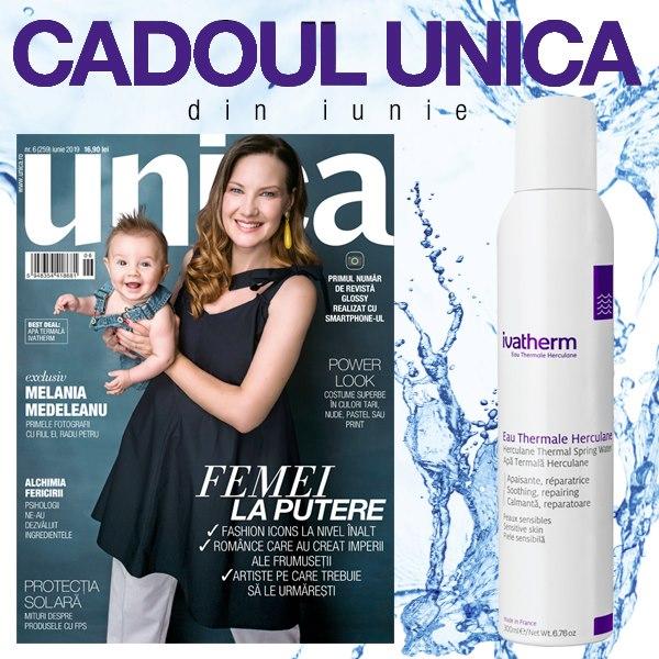 Promo editia de Iunie 2019 a revistei UNICA si cadou Ivatherm ~~ Pret pachet: 16,90 lei