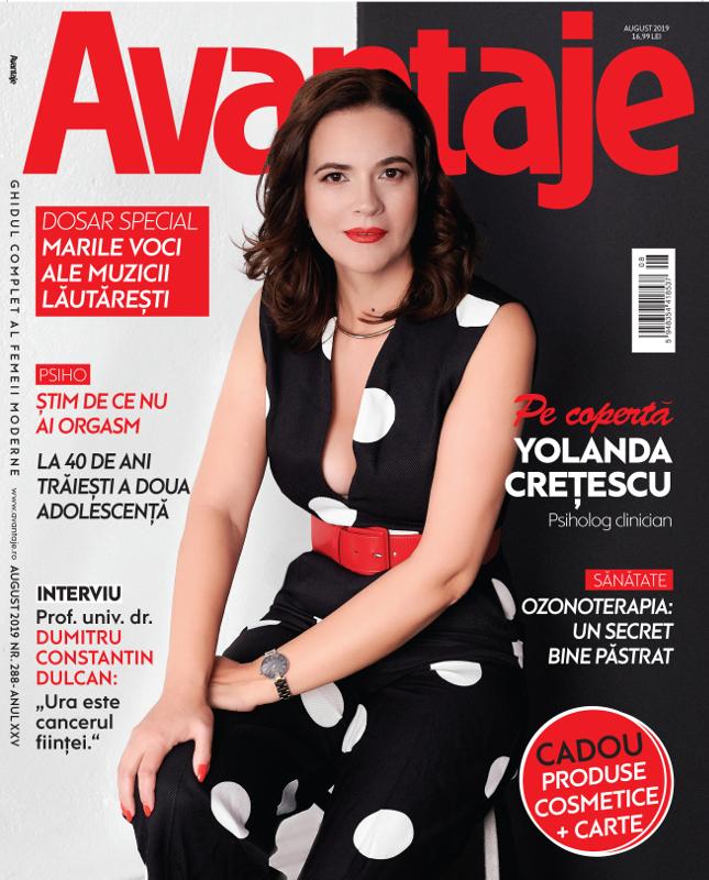 AVANTAJE ~~ Coperta: Yolanda Cretescu ~~ August 2019